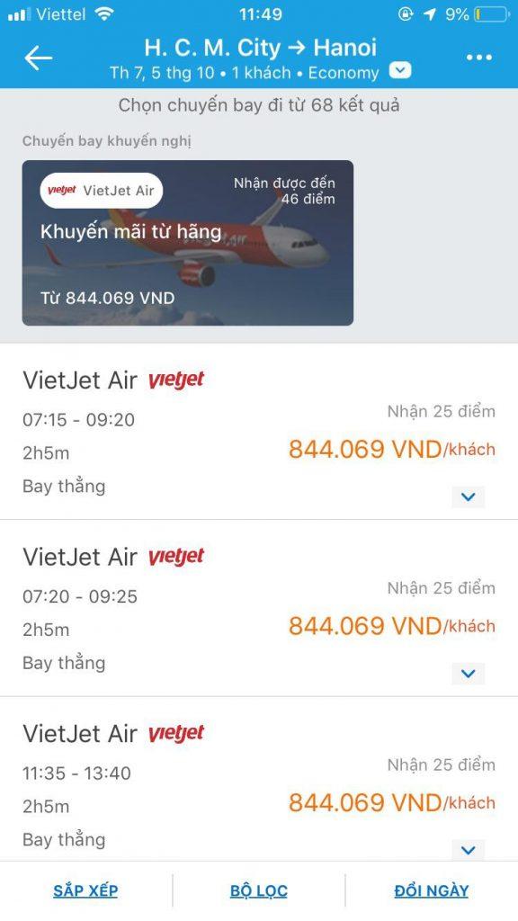 đặt vé máy bay traveloka