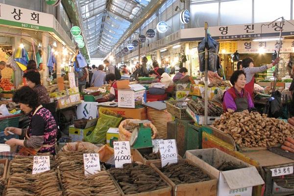 chợ sâm Hàn Quốc